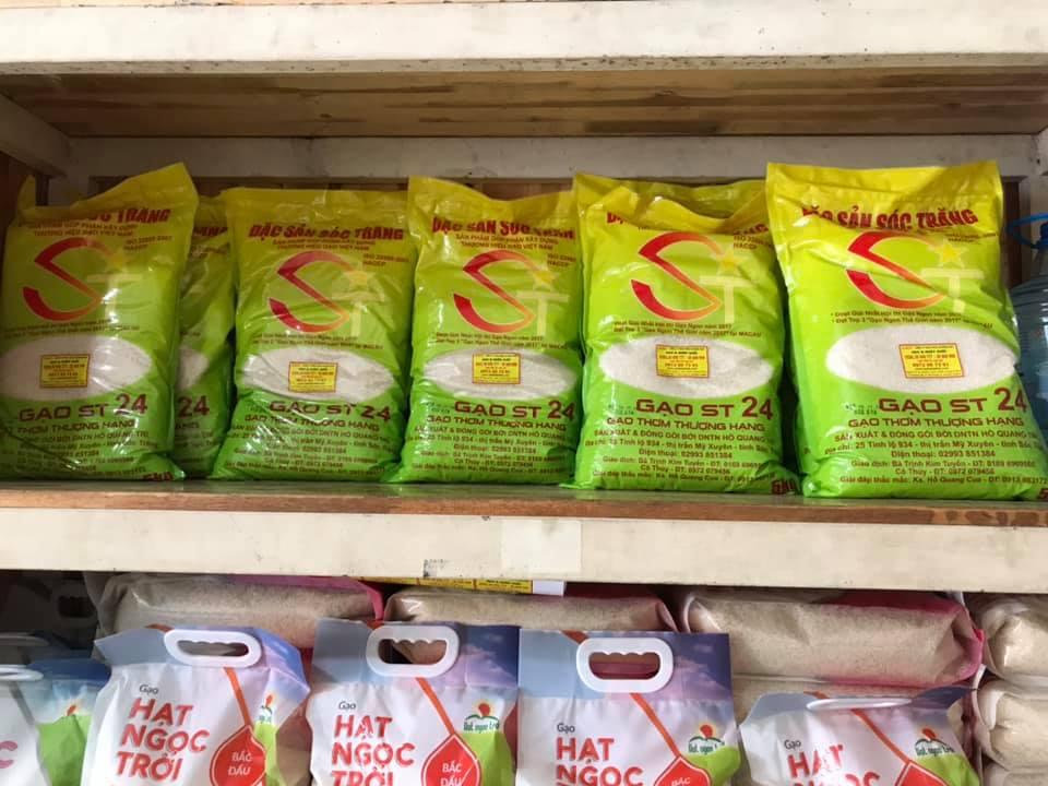 gạo đặc sản sóc trăng ST24