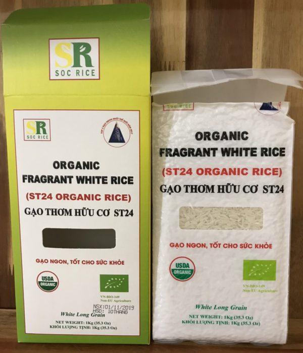 gạo thơm hữu cơ st24