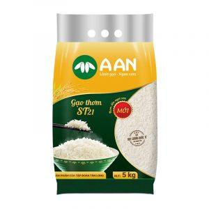 Gạo thơm A An ST21 túi 5kg
