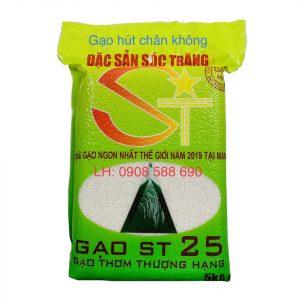 Gạo ST25 túi 5kg hút chân không
